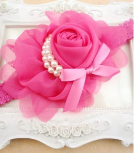 Rose and Pearl Headband