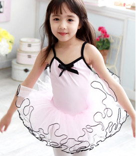Pink and Black Sleeveless Tutu