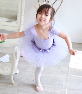 Purple Tutu with White Dots