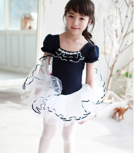 Navy and White Tutu Dress