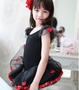 Black Tutu with Red Bows