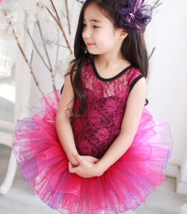 Red and Purple Lace Tutu