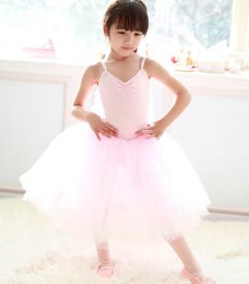 Long Pink Tutu Dress