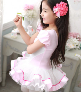 Pink and White Tutu Dress